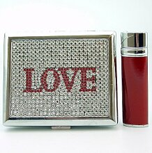 LOVE Zigarettenetui + Feuerzeug JET-Flamme