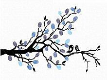 Lovebirds Fingerprint Baum Hochzeit Party