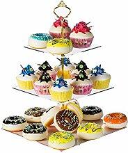 LoveDisplay Etagere für Desserts, 3 Ebenen, rund