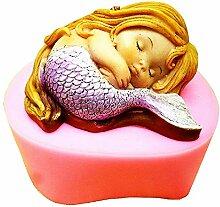 Lovelegis Silikonform - Baby Meerjungfrau - Kerze