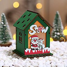 LoveLeiter DIY Puppenhaus 3D Holz Miniaturhaus Kit