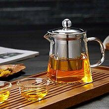LoveLeiter Teekanne mit Stövchen Teebereiter Glas