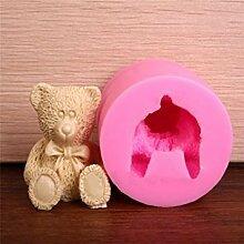 Lovely 3D Teddy Bär Silikon Form Fondant