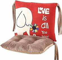 Lovely Baumwoll-Elefanten-Druck-Stuhl-Kissen-Art- und Weisestuhl-Kissen