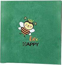 Lovely Bee Pattern selbstklebendes Fotoalbum Buch