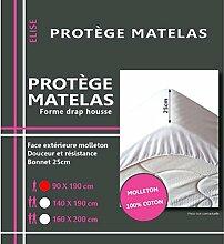 Lovely Casa Matratzenschoner Hypoallergenic, Baumwolle, Molton, 190x 90x 10cm