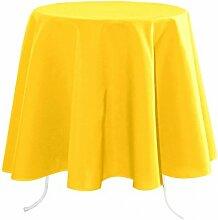 Lovely Casa n214689021Nelson Tischdecke Polyester Gelb 180x 180cm