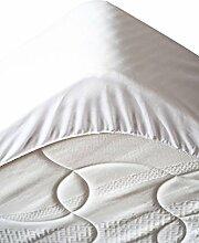 Lovely Casa pm49374001Tricia Matratzenschoner Polyester/Baumwolle weiß 200x 180x 10cm