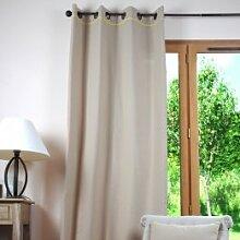 Lovely Casa r61490113Duo Vorhang Baumwolle Leinen/gelb 135x 250cm
