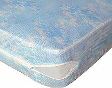 Lovely Casa RM14825001 Sieste Matratzenschoner, bedruckt, Polyester, 90x190cm, Weiß