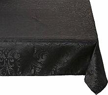 Lovely Casa Tischtuch, Polyester, schwarz, 240x145