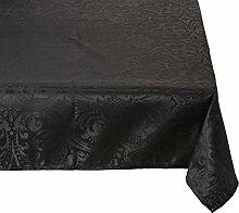 Lovely Casa Tischtuch, Polyester, schwarz, 300x145