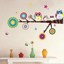 Lovely Eulen Baum Sterne Schmetterlinge Wand Aufkleber Home Aufkleber PVC Wandmalereien, Vinyl, Papier, House Dekoration Tapete Wohnzimmer Schlafzimmer Küche Kunst Bild DIY für Kinder Teen Senior Erwachsene Kinderzimmer Baby