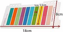 Lovely fluoreszierend Memo Pad Set Sticky Notes