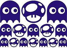 Lovely Funny Fancy Set von verschiedenen Monster (42cm x 60cm) wählen Sie Farbe 18Farben auf Lager Badezimmer, Childs Schlafzimmer, Kinder Zimmer Aufkleber, Auto Vinyl-, Windows und Wandtattoo, Wall Windows Art, Decals, Ornament Vinyl Sticker ThatVinylPlace Saphirblau