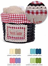 Lovely Home Sweet Home flannels-sponge Face Handtuch 30x 30, Rattan Korb Country tirolese- Geschenkidee Pink