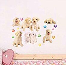 Lovely Hunde Wand Aufkleber PVC Home Aufkleber House Vinyl Papier Dekoration Tapete Wohnzimmer Schlafzimmer Küche Kunst Bild DIY Wandmalereien Mädchen Jungen Baby Kinderzimmer Spielzimmer Decor