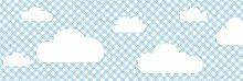 lovely label Bordüre selbstklebend Wolken BLAU