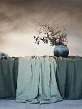 Lovely Linen Tischdecke 145x380 - Avocado