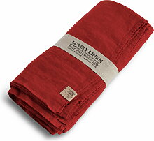 Lovely Linen Tischdecke 145x380 - Real Red