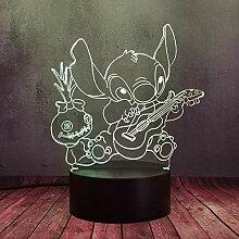 Lovely Mengxing Lilo und Stitch 3D-Lampe,