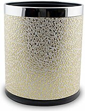 LOVELY Moderne Luxus Haus Leder Doppel Mülleimer 12L Badezimmer Küche Unbeanspruchte Mülleimer, 270 * 230mm ( Color : Gold )