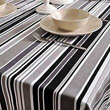 LOVELY Moderne Streifen können gewaschen werden Rechteckige Tischdecke, Elegantes Leinen Dinner Cafe Hotel Heimtextilien Tischdecke ( Color : D , Größe : 140*180cm )