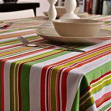 LOVELY Moderne Streifen können gewaschen werden Rechteckige Tischdecke, Elegantes Leinen Dinner Cafe Hotel Heimtextilien Tischdecke ( Color : C , Größe : 140*200cm )