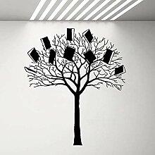 LovelyHomeWJ Baum mit Büchern Wandaufkleber