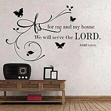 LovelyHomeWJ Bibelvers Gott Religion Sprichwort
