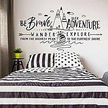 LovelyHomeWJ Cartoon Be Brave Seek Adventure