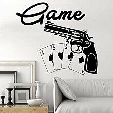 LovelyHomeWJ Casino Aufkleber Glücksspiel