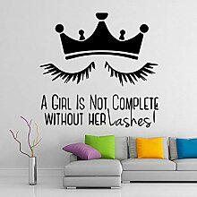 LovelyHomeWJ Crown Mädchen Lash Vinyl