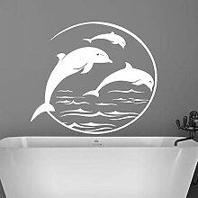 LovelyHomeWJ Dolphin Wandaufkleber Aufkleber