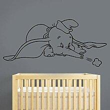 LovelyHomeWJ Dumbo Wandaufkleber Vinyl Aufkleber