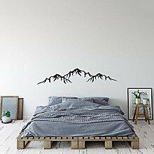 LovelyHomeWJ Einfache Berg Design Aufkleber Berge