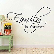 LovelyHomeWJ Familie ist für Immer Vinyl
