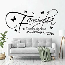 LovelyHomeWJ Familie Wandaufkleber Zitate Adesivi