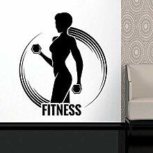 LovelyHomeWJ Fitness Aufkleber Gym Hantel