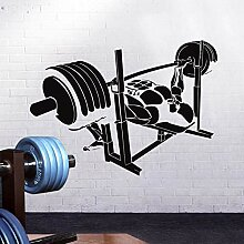 LovelyHomeWJ Fitness Aufkleber Gym Langhantel