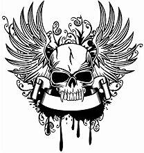 LovelyHomeWJ Flügel Schädel Aufkleber Punk Tod