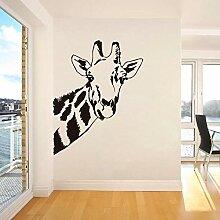 LovelyHomeWJ Giraffe Kopf Wandaufkleber Wandbild