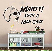 LovelyHomeWJ Große Back to Man Cave Wandaufkleber