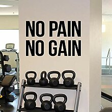 LovelyHomeWJ Gym Motivationszitat Kein Schmerz
