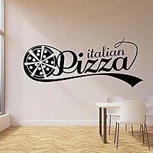 LovelyHomeWJ Italienische Pizza Logo Wandtattoo