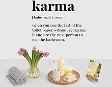 LovelyHomeWJ Karma Englisch Zitate Home Decor