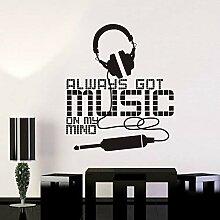 LovelyHomeWJ Music Zone Wandaufkleber Headset Rock