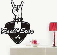LovelyHomeWJ Musik Rock Star Wandaufkleber Dekor