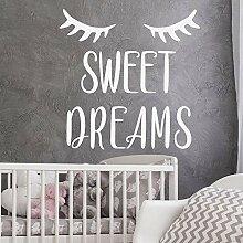 LovelyHomeWJ Sweet Dreams Wandtattoo Zitat Kinder