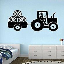 LovelyHomeWJ Traktor Vinyl Aufkleber Wandaufkleber